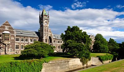 Clock Tower Otago University Dunedin South Island New Zealand