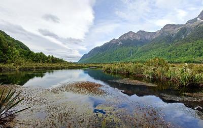 Mirror Lake Fjordland National Park New Zealand