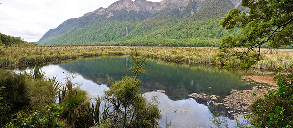 Mirror Lake Fjordland National Park New Zealand