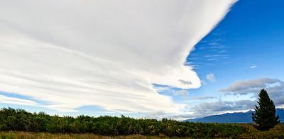 Cloud bank Milford Road Fjordland National Park