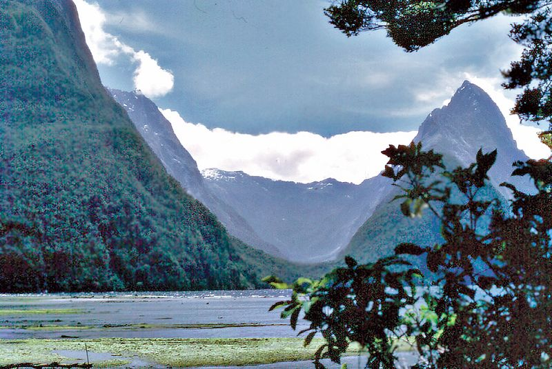 Mitre Peak Milford Sound Fjorland New Zealand - Jan 1973