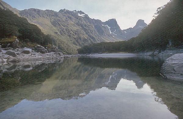 Lake McKenzie Routeburn track Fjorland New Zealand - Apr 1972