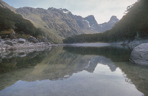 Lake McKenzie Routeburn track Fjorland New Zealand - Apr 1972
