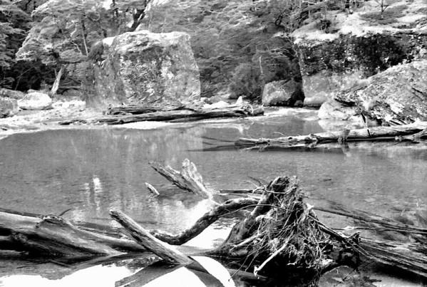 Routeburn stream Routeburn track Fjordland New Zealand - 197X