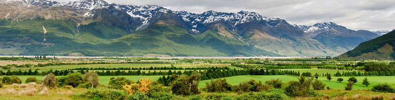 Pasture lands Glenorchy South Island New Zealand