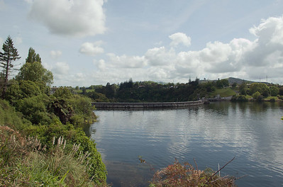 Top of hydro dam Karapiro New Zealand - 4 Nov 2006