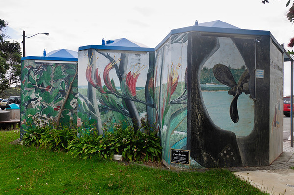 Mural by John Mulvay Sandspit Wakworth North Island New Zealand
