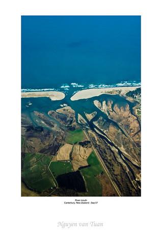 River mouth Canterbury South Island Te Wai Pounamu New Zealand - Sep 07