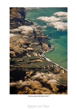 Coastline Canterbury South island Te Wai Pounamu New Zealand - Sep 07