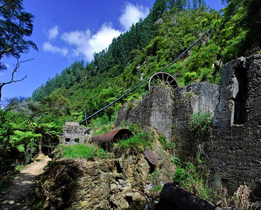 Old abandoned gold mine in the Karangahake Gorge