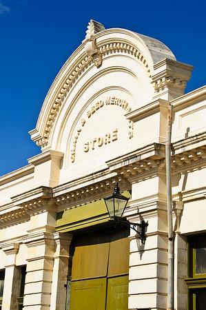 Victorian era grain store Oamaru New Zealand