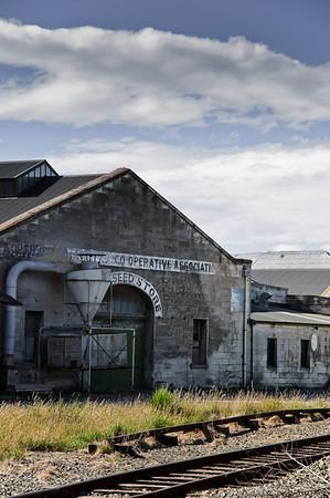 Old rail tracks Oamaru New Zealand