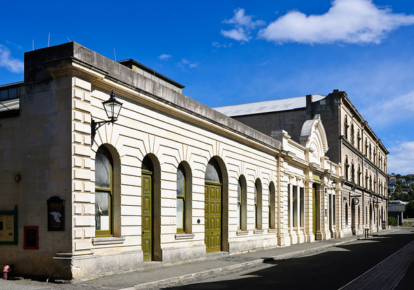 Victorian warehouses Oamaru New Zealand