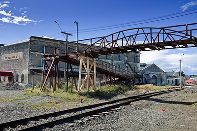 Old rail tracks Oamaru New Zealand