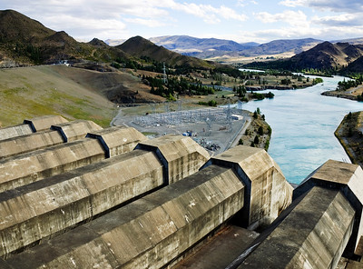 Penstock Benmore Dam Waitaki District South Island New Zealand