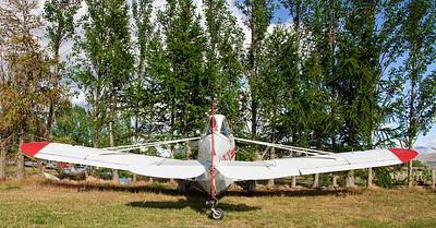 Vintage top dressing airplane Omarama airfield