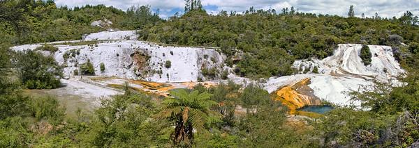 Aniwaniwa - rainbow and cascade terrace Orakei Korako New Zealand - 31 Dec 2007