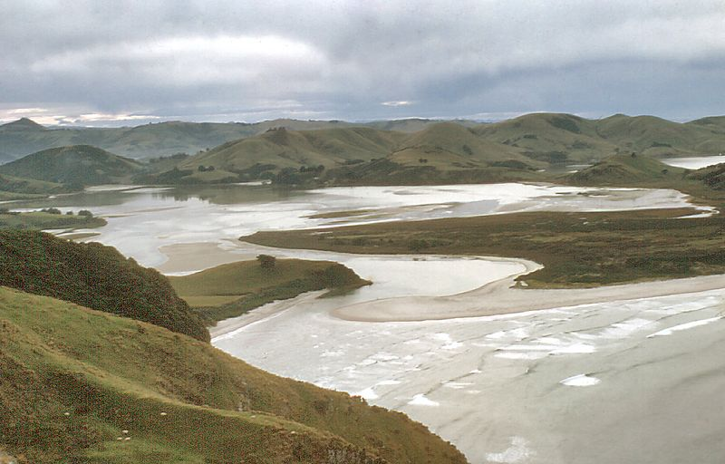 Entrance to Hooper Inlet Otago peninsula New Zealand - Jul 1977