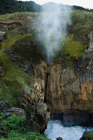 Blowhole Punekaiki Paparoa National Park South Island New Zealand