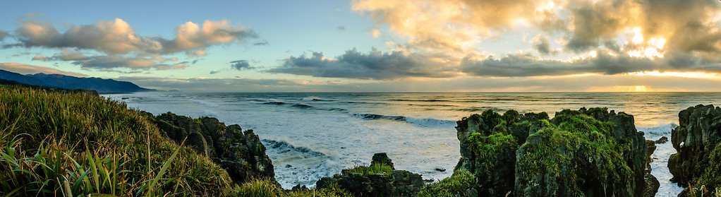 Sunset at Punakaiki Westland South Island
