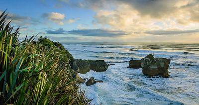 Sunset Punakaiki Westland South Island Te Wai Pounamu New Zealand - 4 Sep 2007