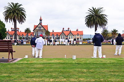 Afternoon session of lawn bowling Government Gardens Rotorua