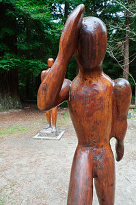 Walk in the Redwood Sculpted by Martin Tissink - 1992 The Redwoods Rotorua