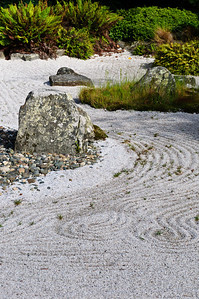 Japanese dry rock garden Queens Gardens Invercargill New Zealand