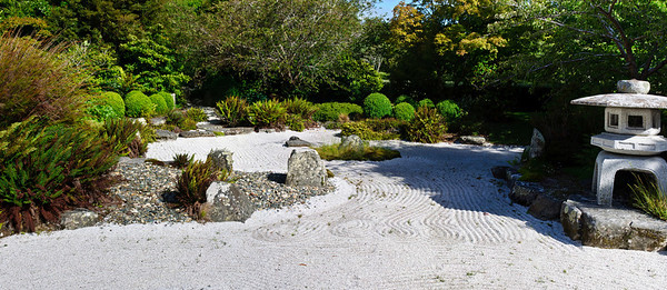 Japanese rock garden Queens Gardens Invercargill South Island New Zealand