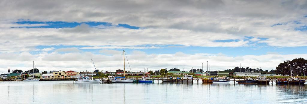 Fishing fleet at anchor Riverton
