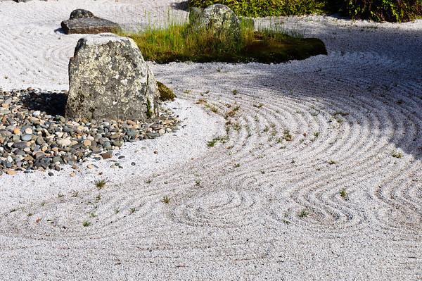 Japanese dry rock garden Queens Gardens Invercargill New Zealand