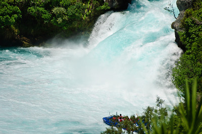 At the foot of the Huka Falls North Island New Zealand