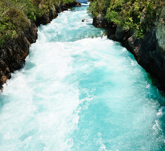 Huka Falls canyon North Island New Zealand