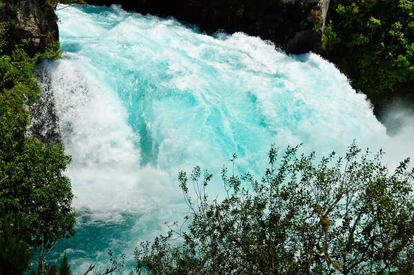 Final stage of the Huka Falls North Island New Zealand