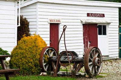 Old blacksmith shop Waikawa The Catlins South Island New Zealand