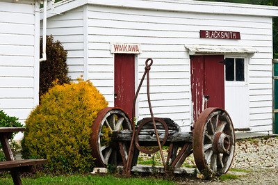 Old blacksmith shop Waikawa The Catlins South Island New Zealand