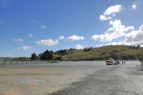 The jetty Port Albert Kaipara Habour New Zealand - Apr 2005
