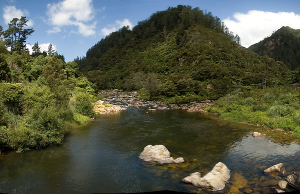 Ohinemuri river Waikino New Zealand