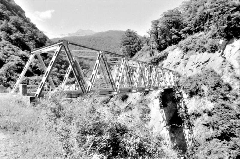 Old rail bridge West Coast New Zealand - 197X