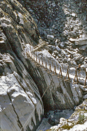 Access bridge Franz Josef glacier New Zealand - Jan 1987