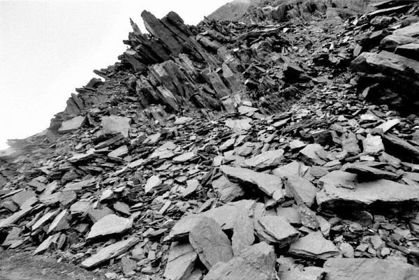 Rock rubbles Franz Josef West Coast New Zealand - 197X