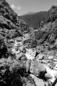 Dry river bed West Coast New Zealand - 197X
