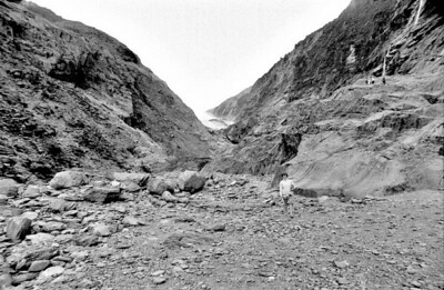 Approach to Franz Josef glacier Franz Josef West Coast New Zealand - 197X