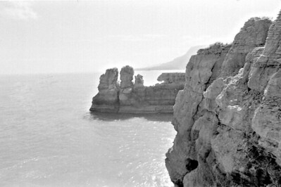 Pancake rocks Punakaiki West Coast New Zealand - 197X