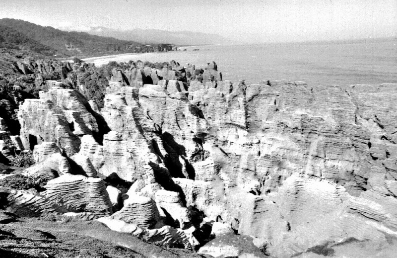 Pancake rocks Punakaiki West Coast New Zealand - 197X