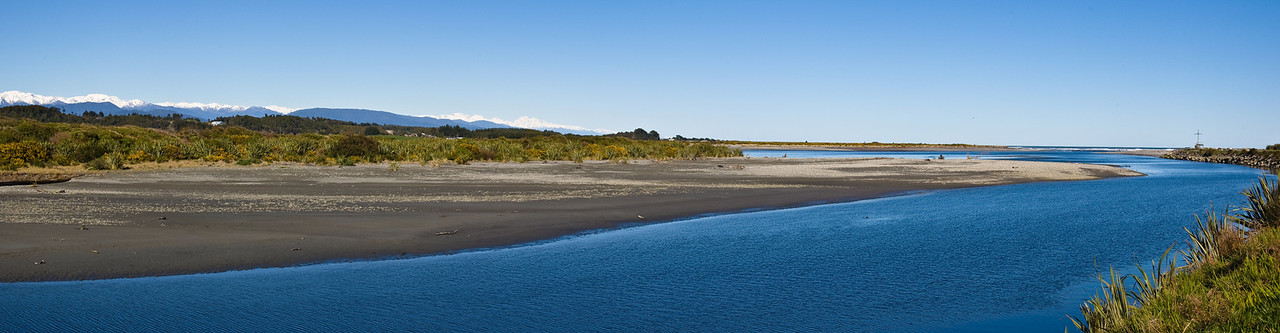 Hokitika river mouth Westland South Island Te Wai Pounamu New Zealand - Sep 07