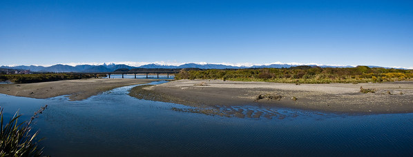 Hokitika river Westland South Island Te Wai Pounamu New Zealand - Sep 07