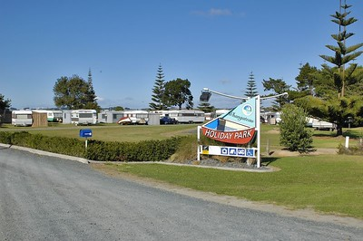 The camping grounds Whangateau New Zealand - Apr 2005