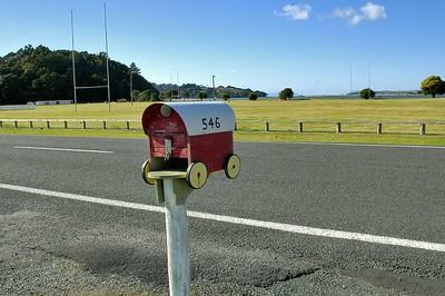 Letter box Whangateau New Zealand - Apr 2005