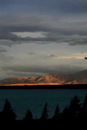 Across New Zealand's Lake Ohau towards Benmore Range